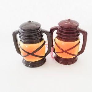 Vintage Camping Lantern Salt & Pepper Shaker Set
